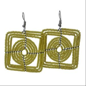 Handmade Beaded Dangling Earrings